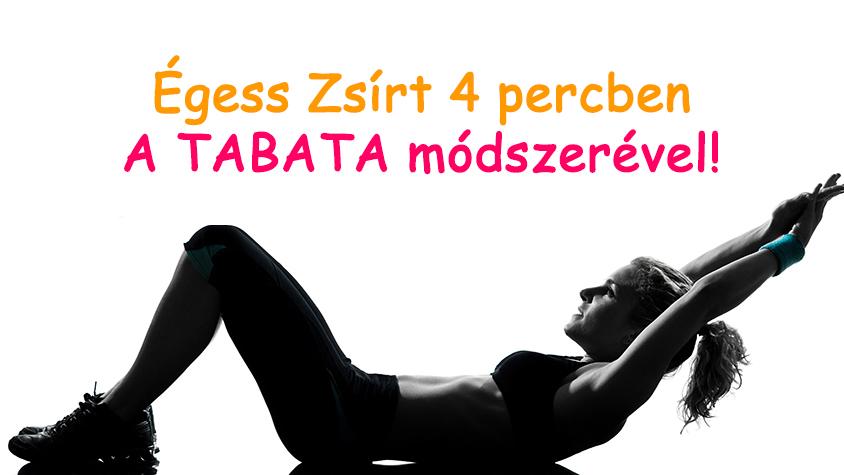 Tabata edzés fogyni 4 perc